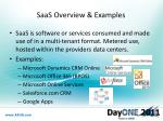 saas overview examples