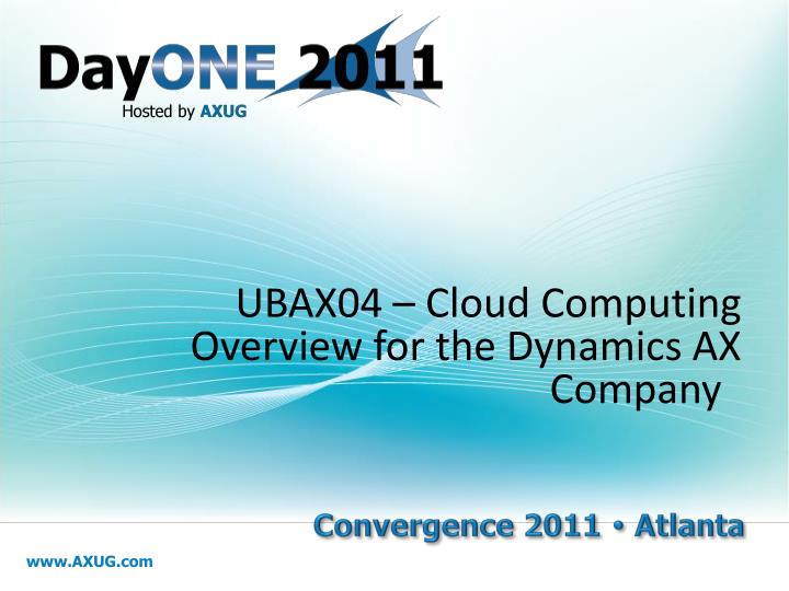 ubax04 cloud computing overview for the dynamics ax company n.