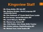 kingsview staff