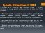 special education @ kms