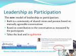 leadership as participation3