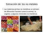 extracci n de los no metales