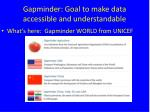 gapminder goal to make data accessible and understandable