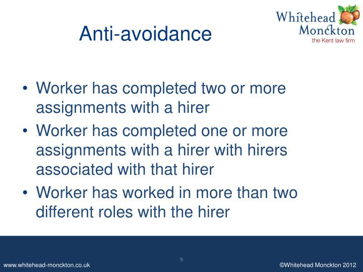 Anti-avoidance