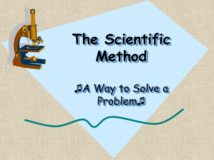 the scientific method a way to solve a problem n.