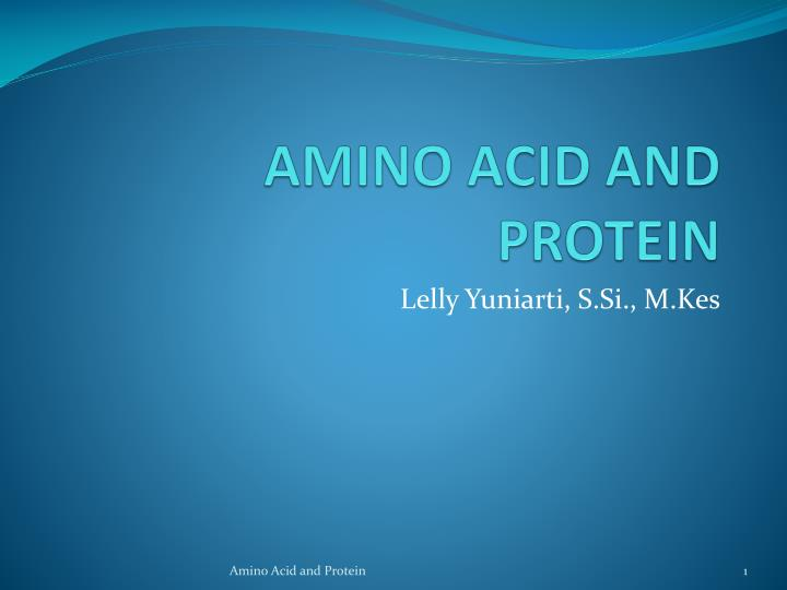 amino acid and protein n.