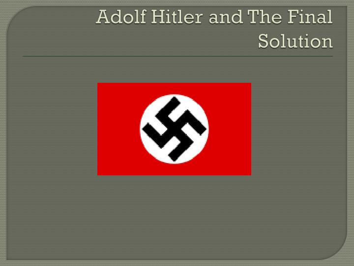 adolf hitler and the final solution n.