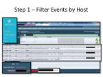 step 1 filter events by host