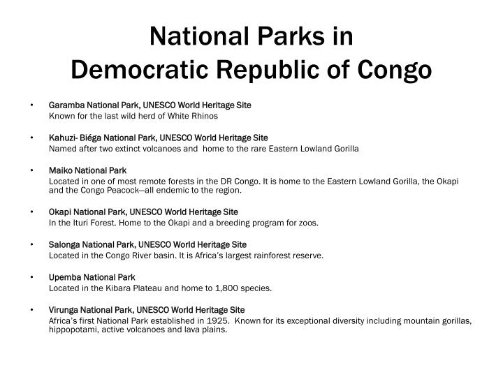 National Parks in