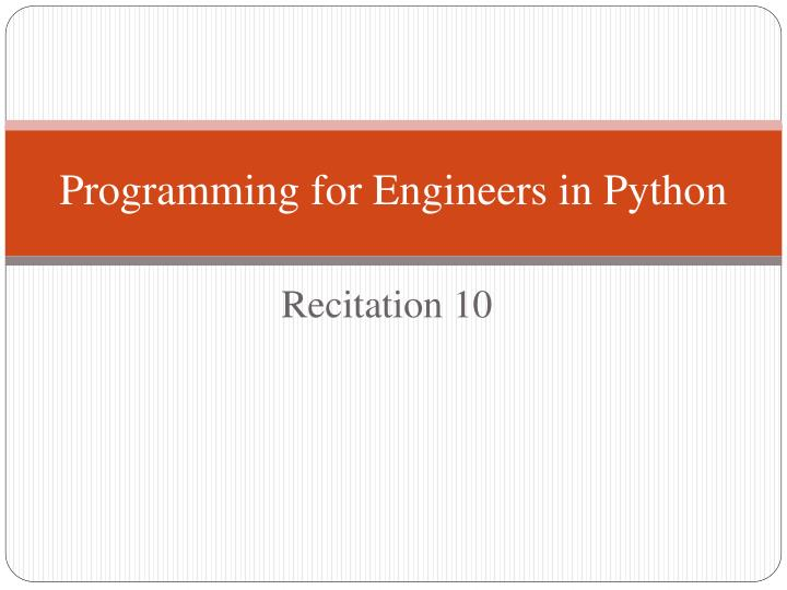 programming for engineers in python n.