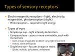 types of sensory receptors2