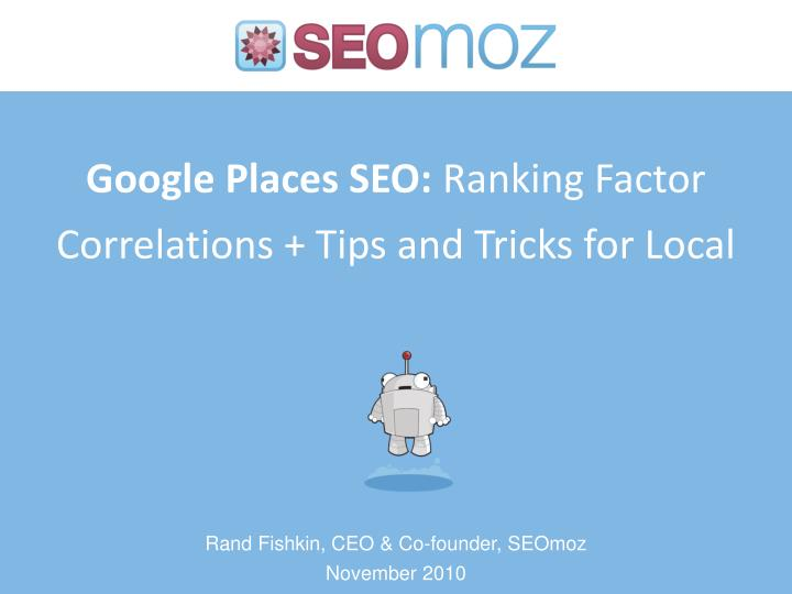 google places seo ranking factor correlations tips and tricks for local n.