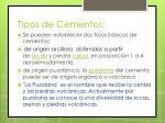 tipos de cementos