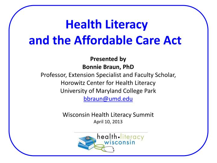 health literacy and the affordable care act n.