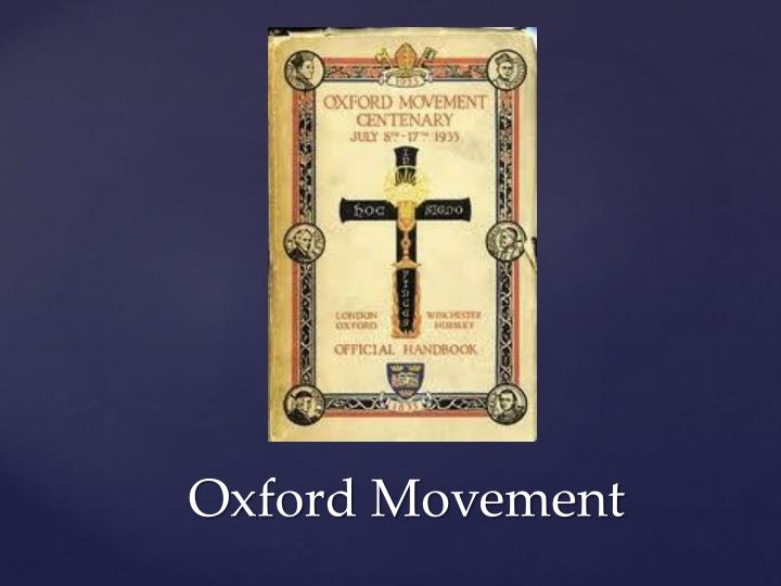 Oxford Movement