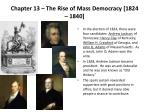chapter 13 the rise of mass democracy 1824 1840
