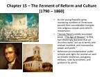 chapter 15 the ferment of reform and culture 1790 1860