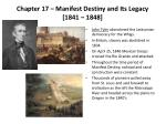 chapter 17 manifest destiny and its legacy 1841 1848