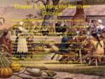 chapter 3 settling the northern colonies