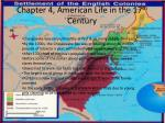chapter 4 american life in the 17 th century