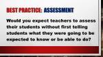 best practice assessment