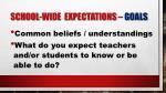 school wide expectations goals