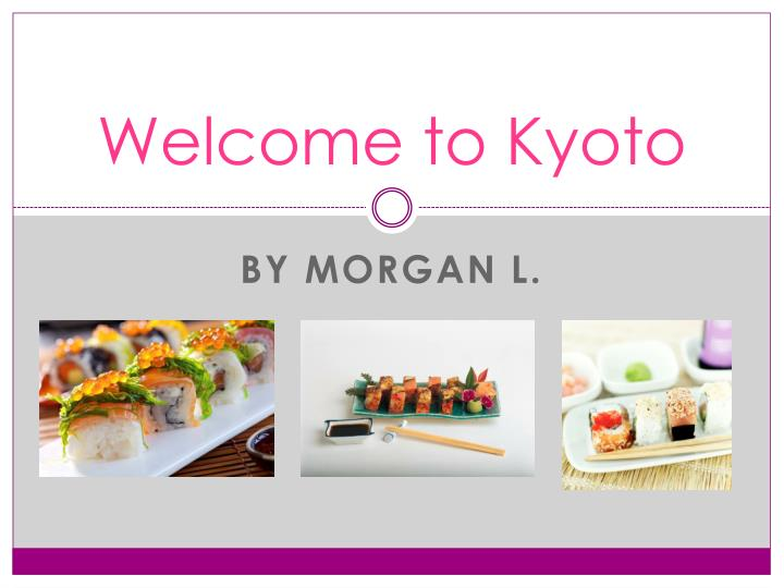 welcome to kyoto n.