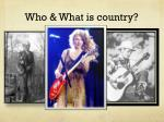 who what is country
