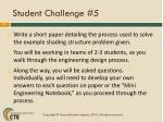 student challenge 5