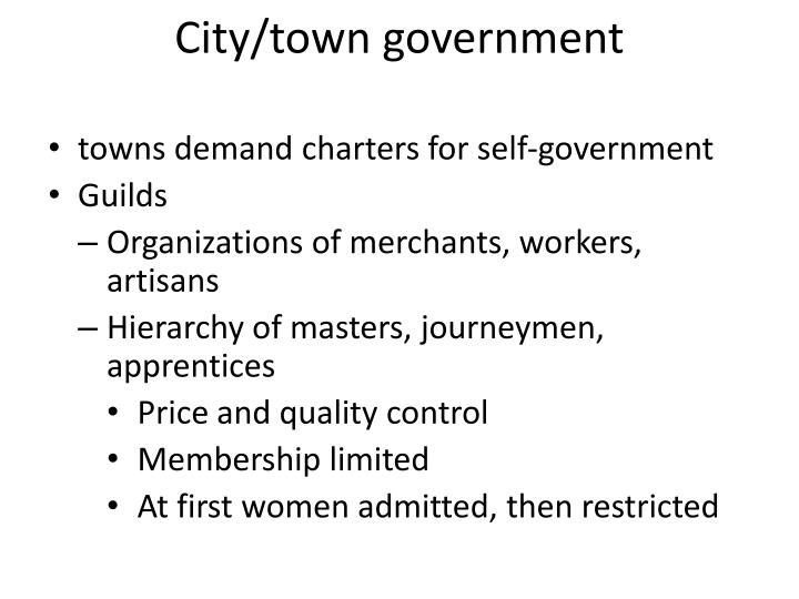 City/town government