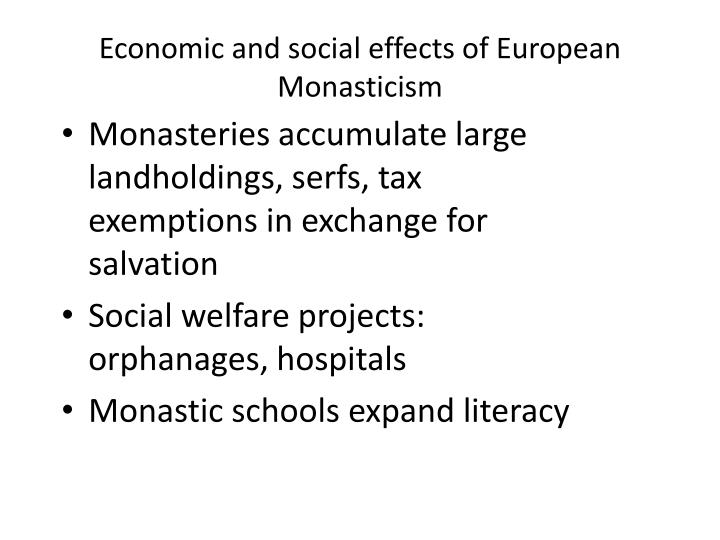Economic and social effects of European Monasticism