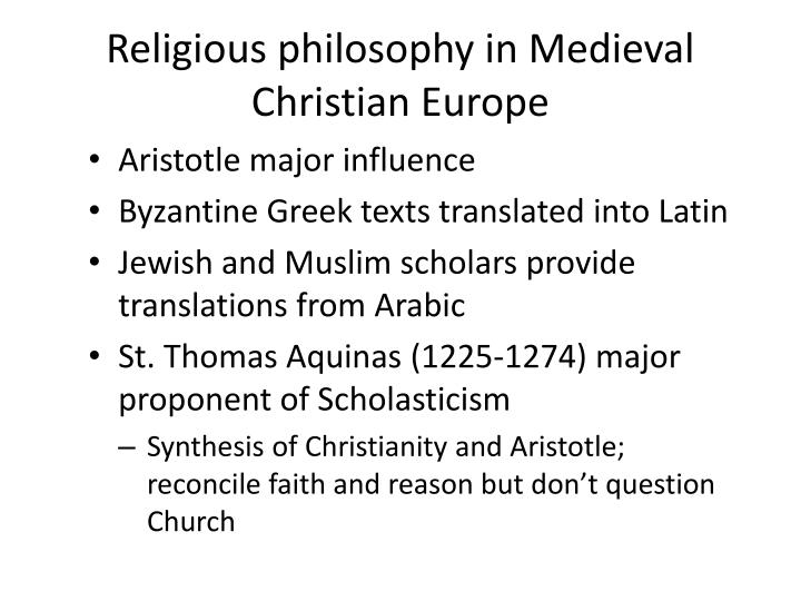 Religious philosophy in Medieval Christian Europe