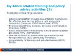 my africa related training and policy advice activities 2