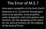 the error of m e