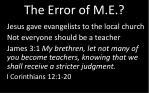 the error of m e1