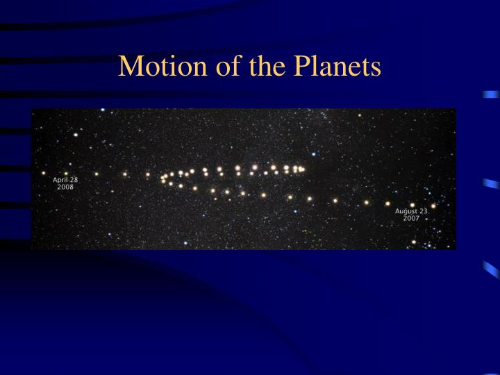 motion of the planets n.