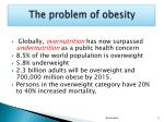 the problem of obesity