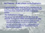 joe pawsey a key player in radiophysics