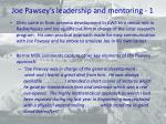 joe pawsey s leadership and mentoring 1