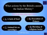 what actions by the british caused the indian mutiny