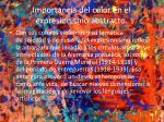 importancia del color en el expresionismo abstracto