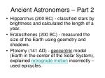 ancient astronomers part 2