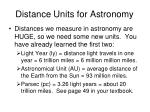 distance units for astronomy