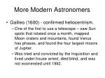 more modern astronomers