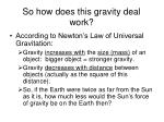so how does this gravity deal work