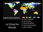 le climat du monde
