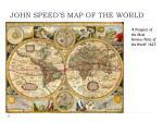 john speed s map of the world