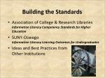 building the standards