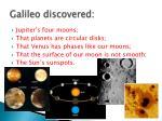 galileo discovered