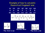 example of how to calculate theoretical fragment ions